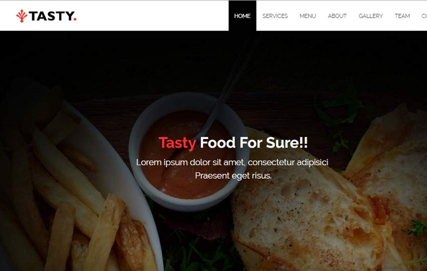 Restaurant HTML5 Web Template