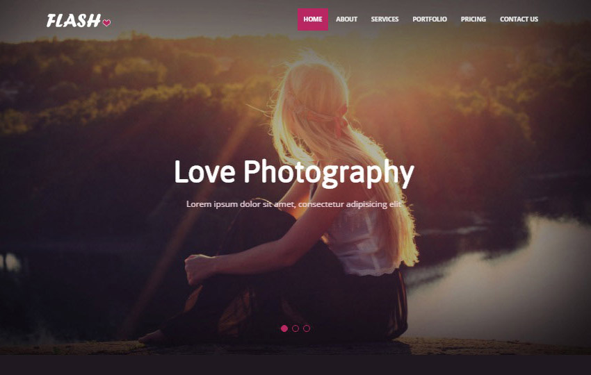 Photography Bootstrap4 Web Template