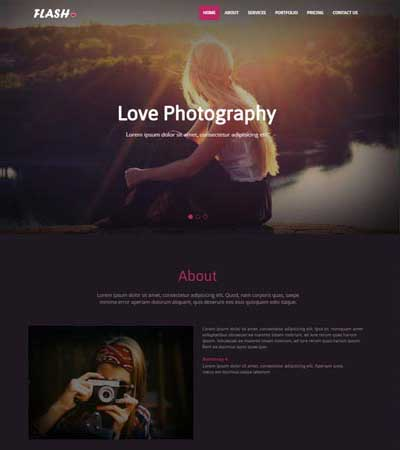 Free Photography HTML Bootstrap Website Templates WebThemez - Free photography website templates