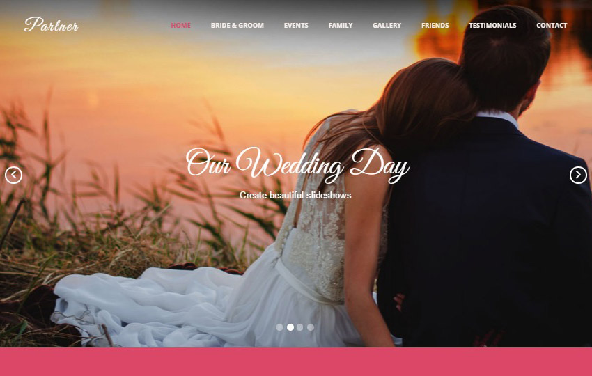 Wedding HTML Bootstrap Web Template Free Download
