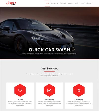 Car wash web template
