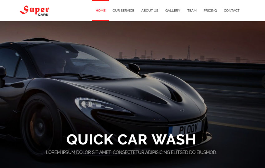 Car servicing web template