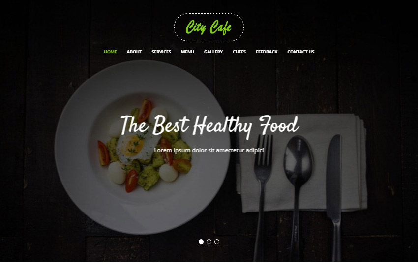 Restaurant bootstrap template download free webthemez bootstrap 4 website template maxwellsz