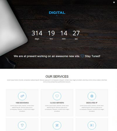 best free under construction coming soon website templates
