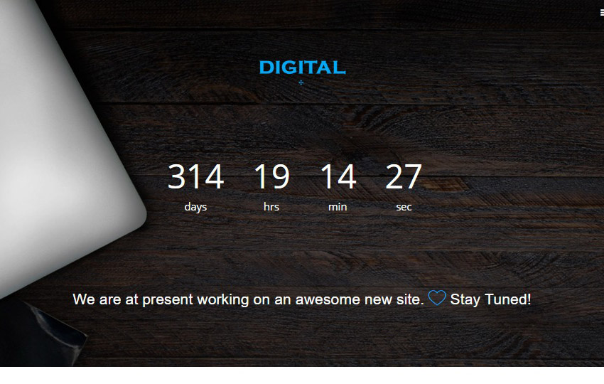 Digital Coming Soon Template Bootstrap