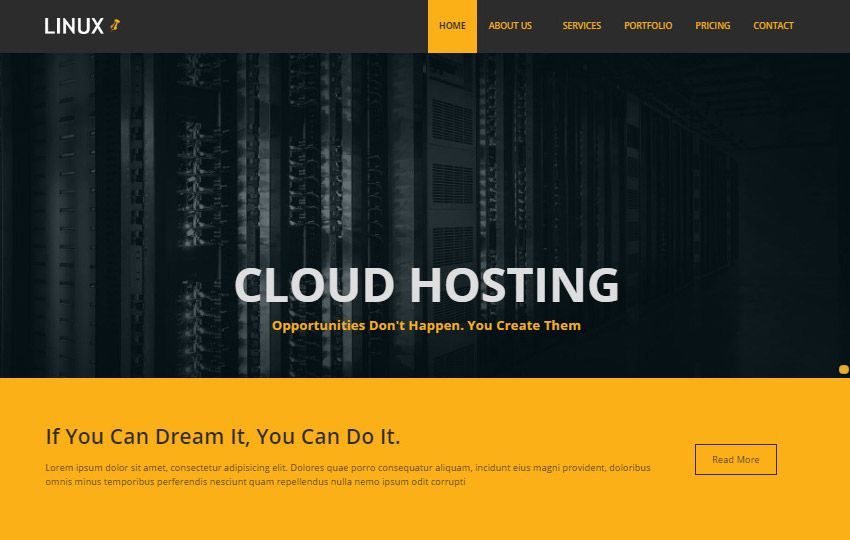 download free web hosting bootstrap template webthemez