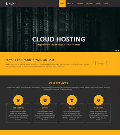 latest hosting website templates free download webthemez