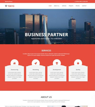Multi page website templates free download webthemez tokyo bootstrap corporate business web template download cheaphphosting Gallery