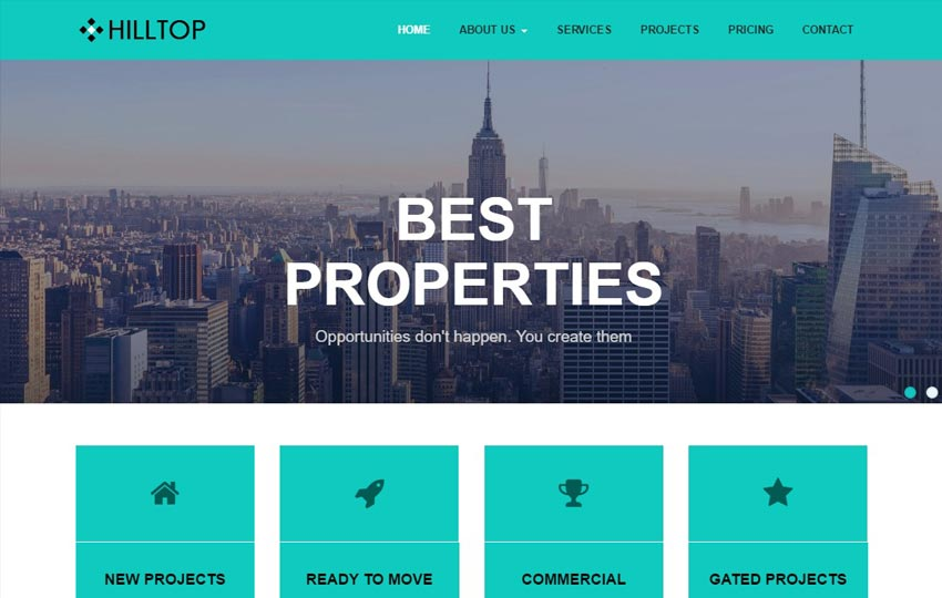 Real Estate Bootstrap Free HTML Web Template