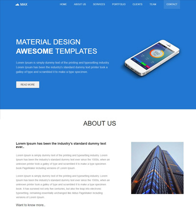 free-material-design-template