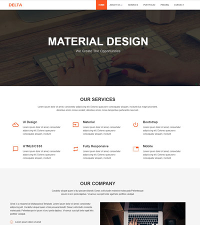Corporate Material Design Bootstrap HTML Template