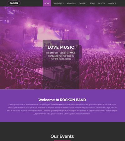free-music-bootstrap-web-template