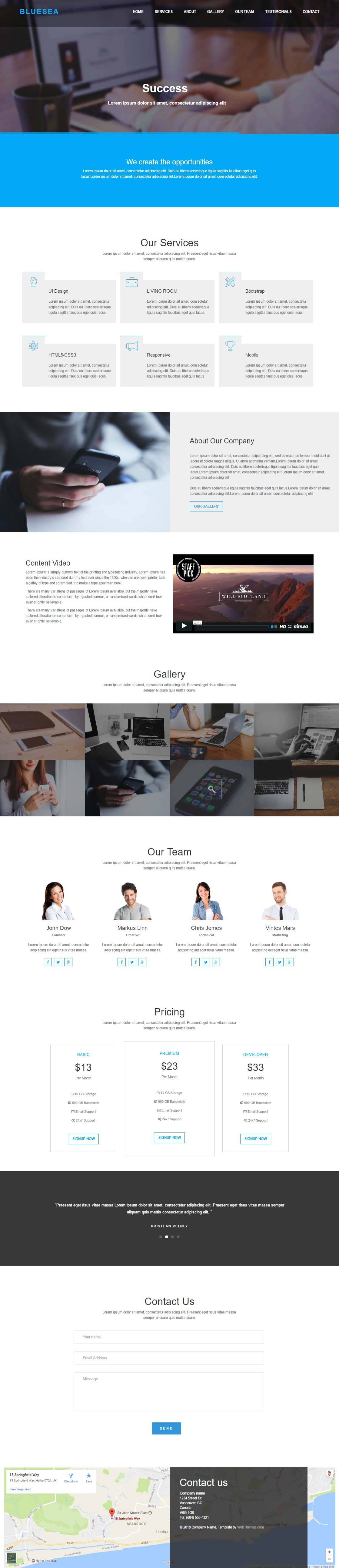 Bluesea Corporate Bootstrap HTML Website Template