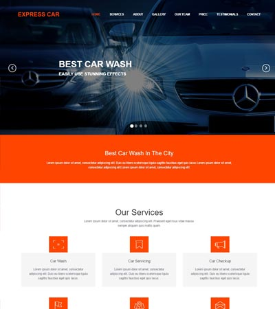 Top Car Wash Website Free Download Webthemez