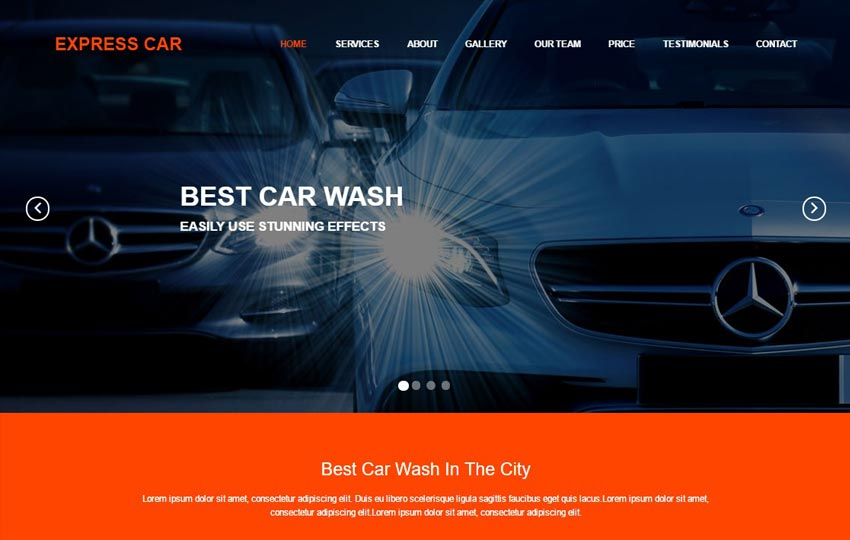 Car Wash HTML5 Responsive Web Template