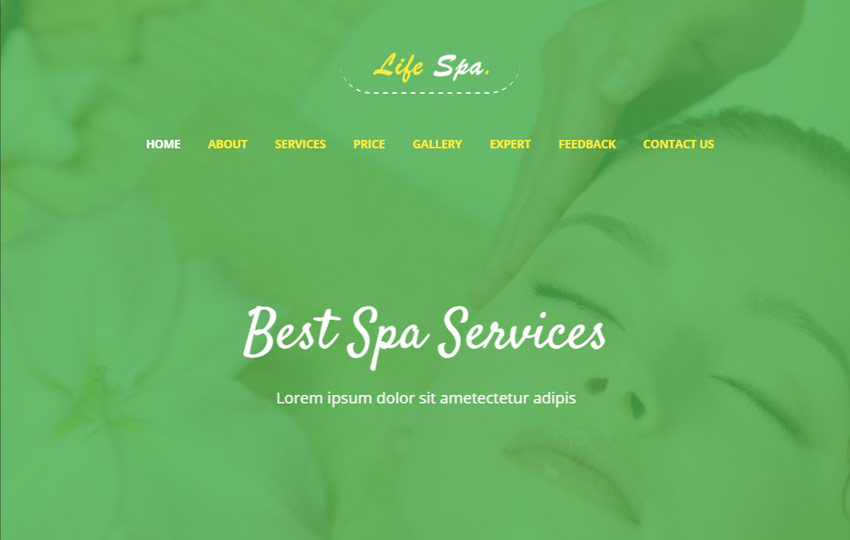 Life Spa Bootstrap 4 Web Template