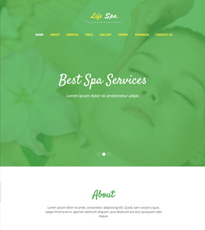 beauty salon website templates free download webthemez