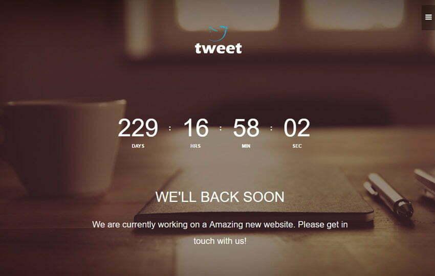 Coming Soon Materia Design Web Template