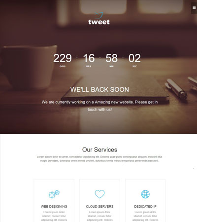Coming-Soon-Material-design-web-template