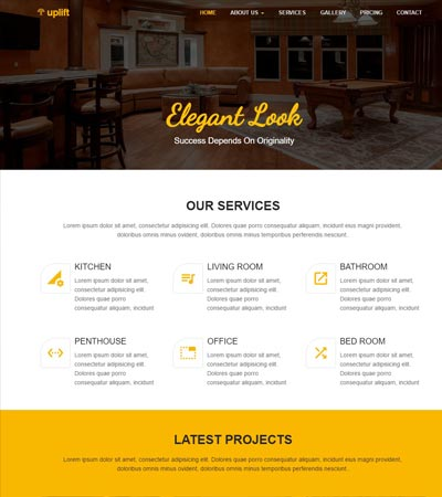 Best Interior Design Website Templates Free Download