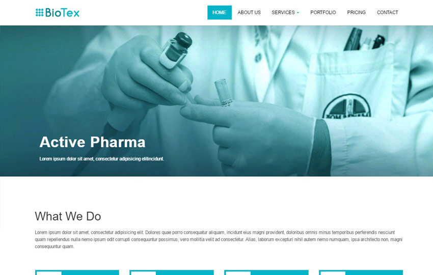 Pharma Industry Corporate HTML Web Template