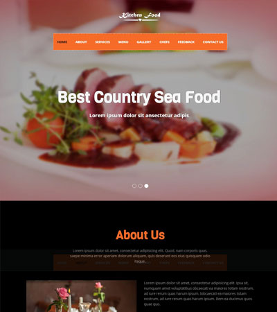 Latest Food Restaurant Website Templates Free Download