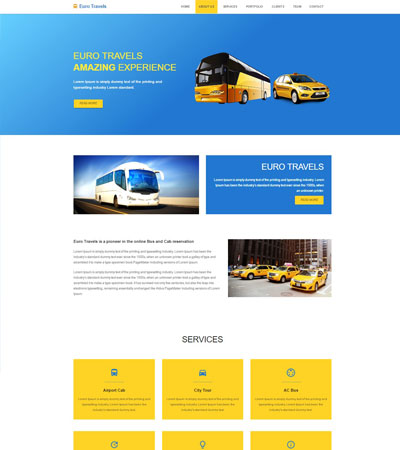 travel agency templates free download webthemez