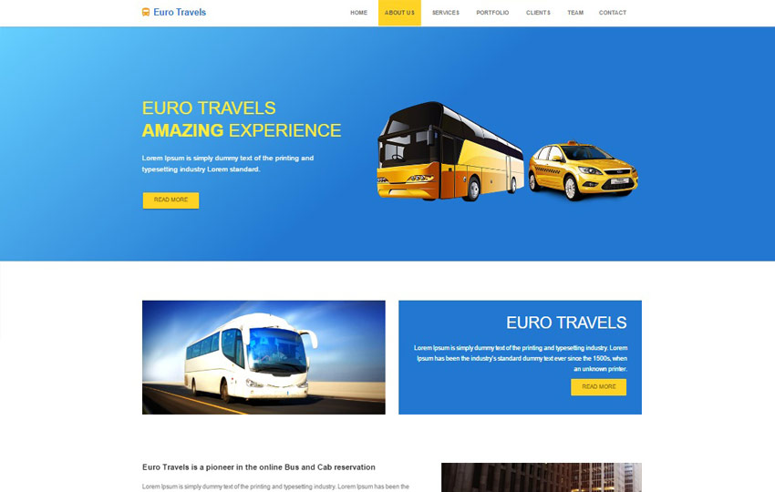 HTML5 Travel Agency Website Template