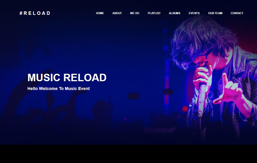 Music Event Bootstrap HTML Template