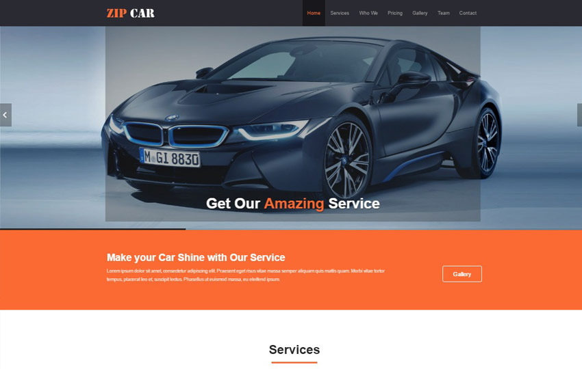 Car Wash HTML5 Website Template