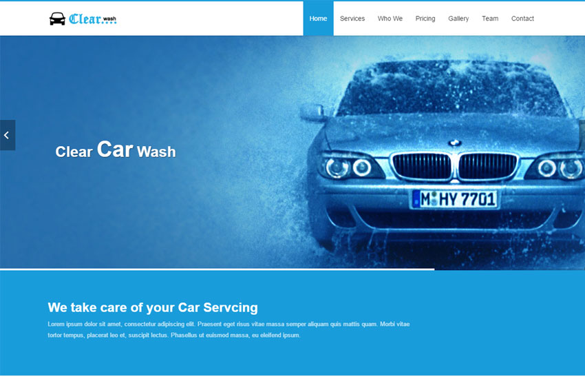 Car Wash HTML Responsive Website Template