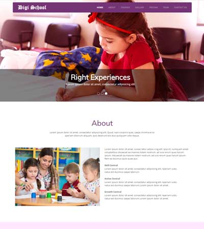 school-html-web-template