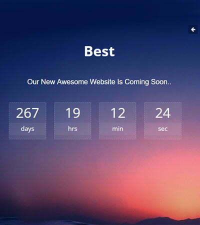 best-coming-soon-website-template