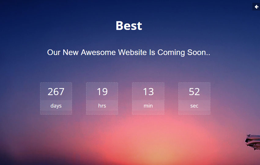Best Coming soon HTML Bootstrap Template