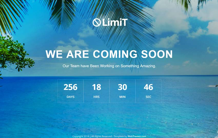 Coming Soon Free Website Template