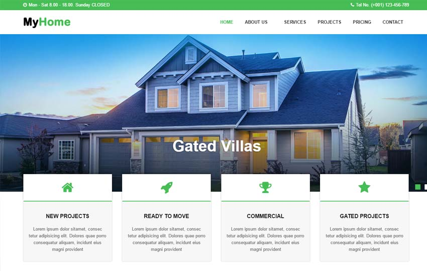 MyHome Real Estate Website Template - WebThemez