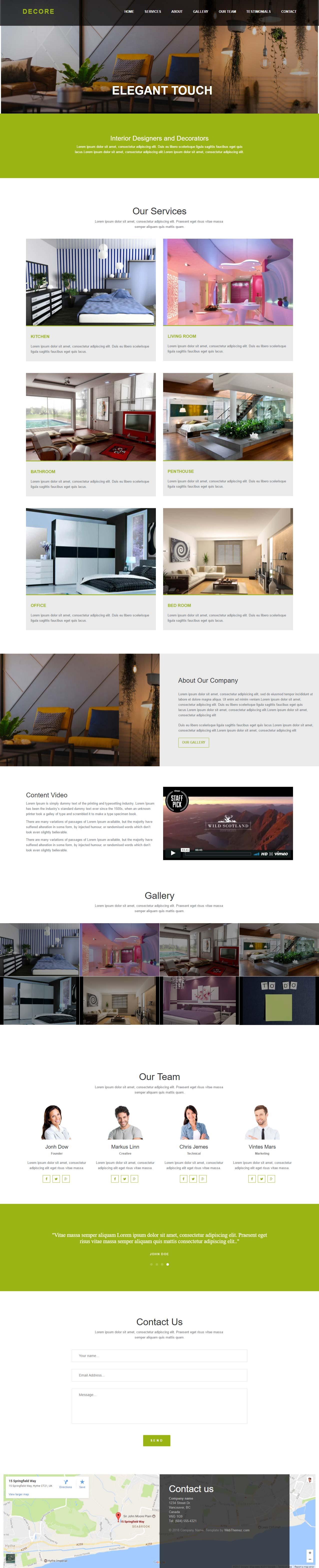 Interior-Design-Bootstrap Template