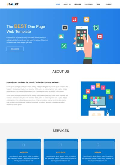 one-page-free-website-template
