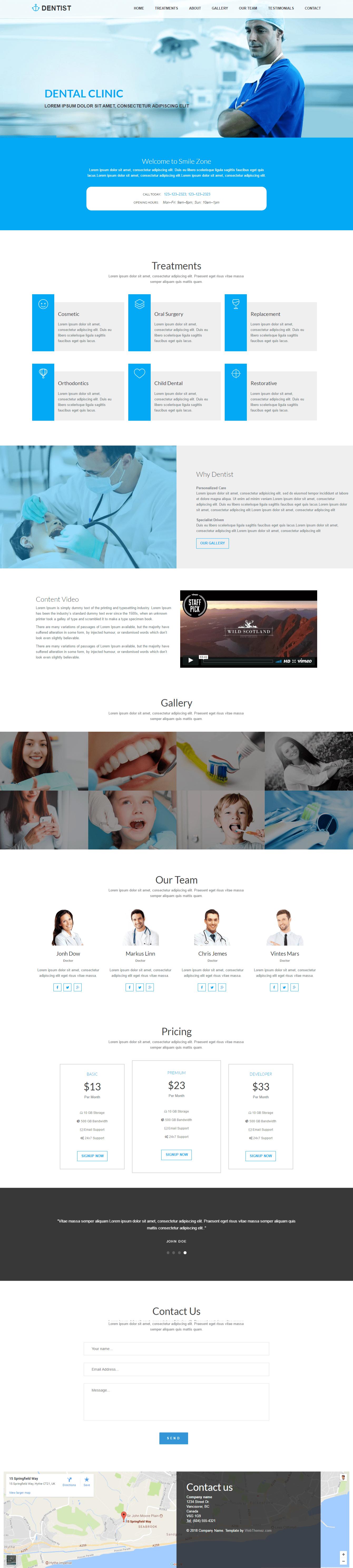 Best Dental Clinic HTML Website Template