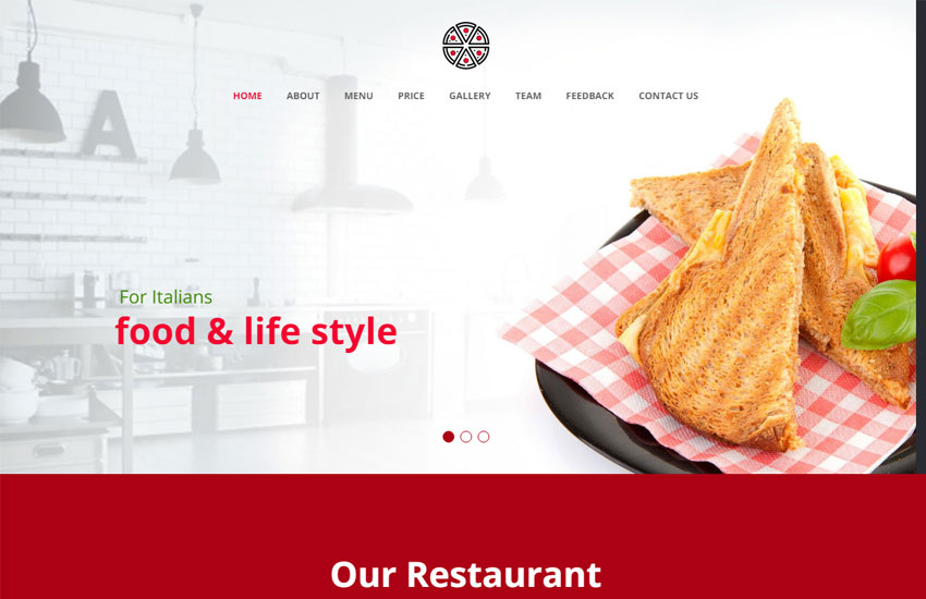 Best Restaurant Website Template Free