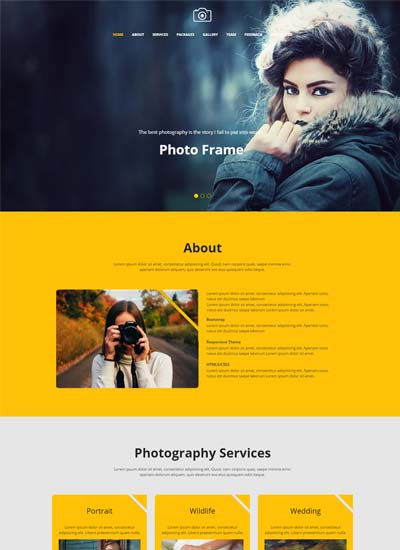 best-photography-website-template-free