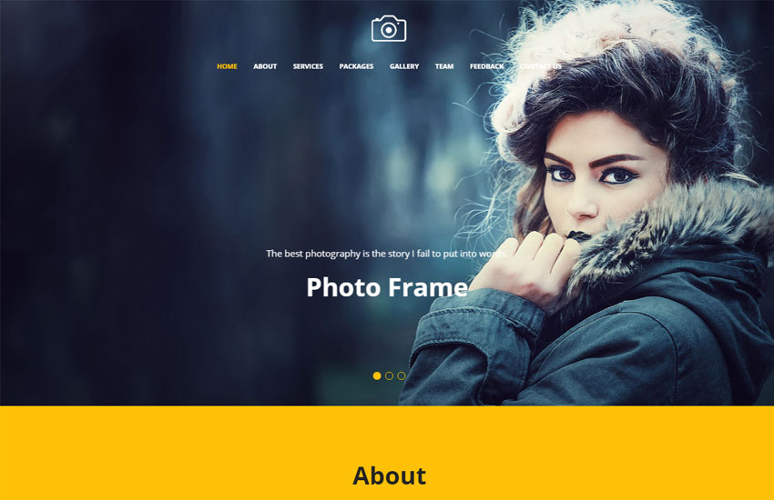 Focus Best Photography Website Template Free Download WebThemez - Free photography website templates