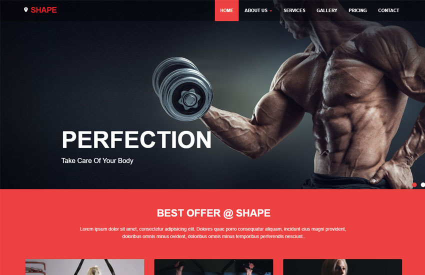 Free Fitness Website Template