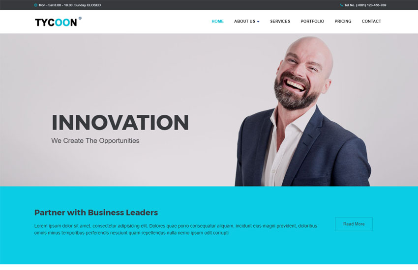 Corporate Bootstrap HTML Website Template