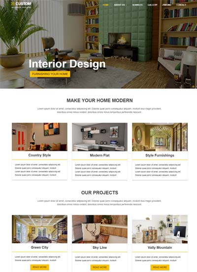 Best Interior Design Website Templates Free Download Magnificent Interior Design Web Templates