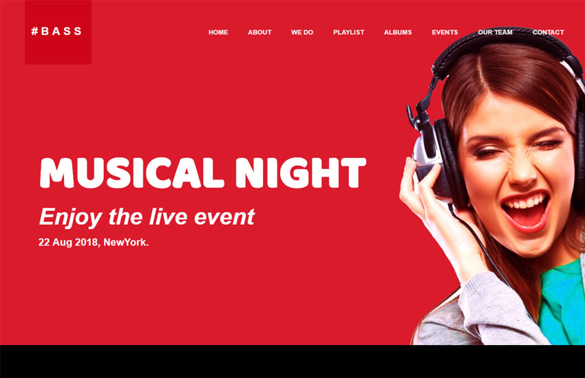 Music Website Template Free