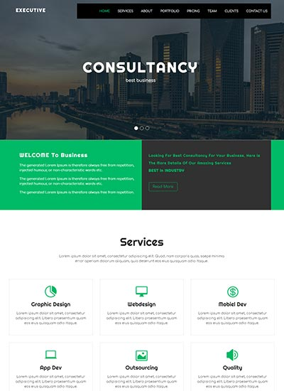 Corporate Business Bootstrap 4 Website Template