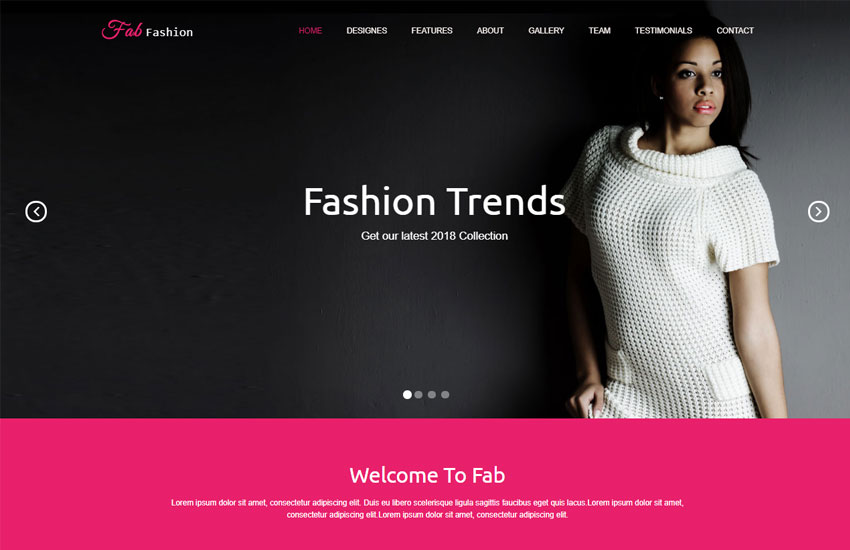 Fashion Responsive Html5 Web Template Free Download