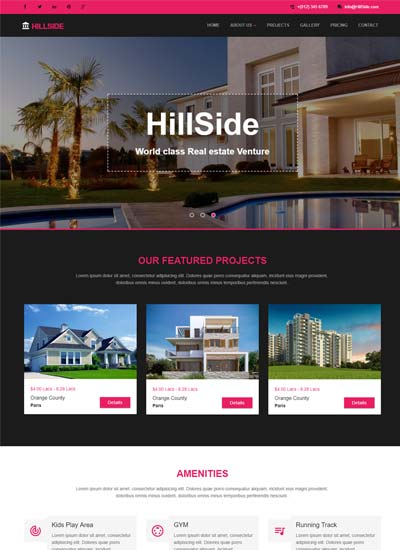 Real-estate Bootstrap Responsive Web Template