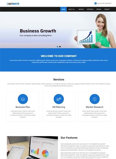 Multi page website templates free download webthemez ultimate business responsive html web template cheaphphosting Choice Image